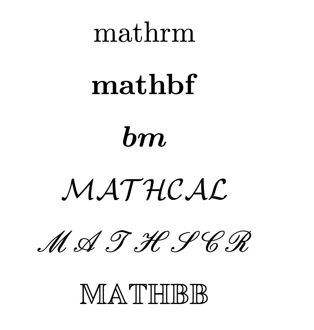 幾種常用字體
