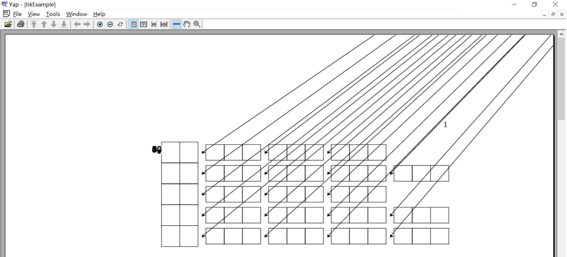 tikz画图错误,线条从右上角画入
