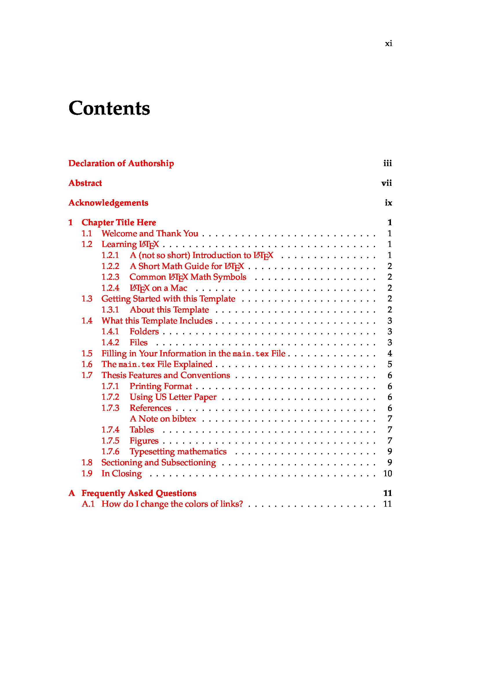 一个典型的英文毕业论文 LaTeX 模板