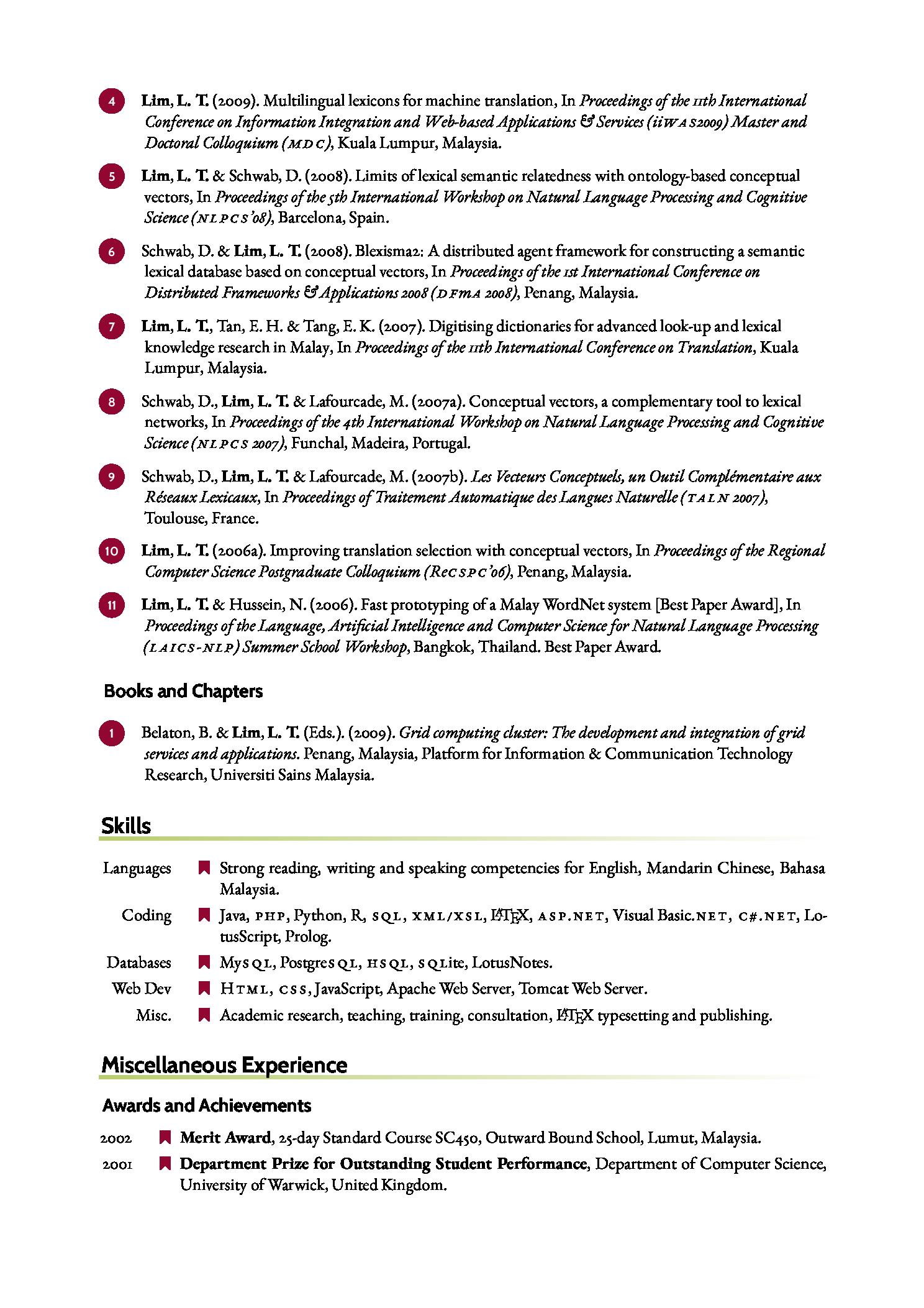 一个从 CurVe 定制而来的简历样式 - 林莲枝