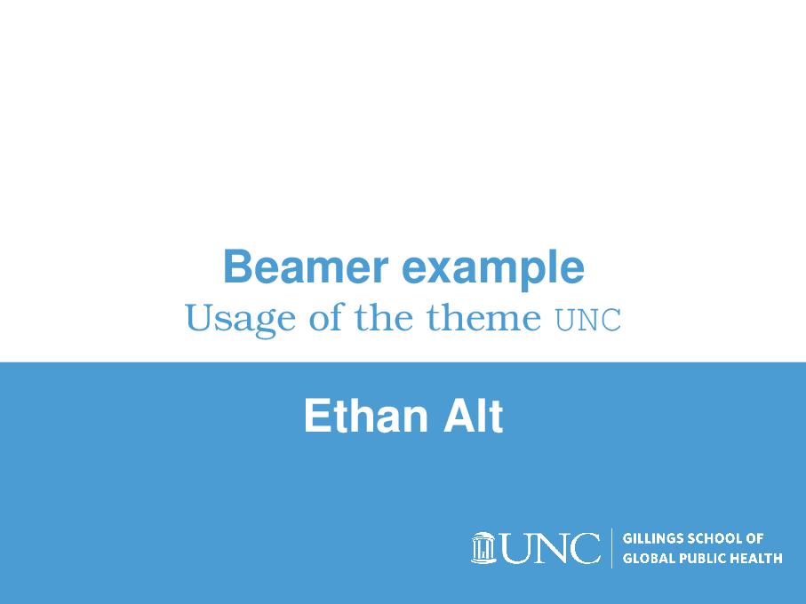 为 UNC 定制的 beamer 主题样式