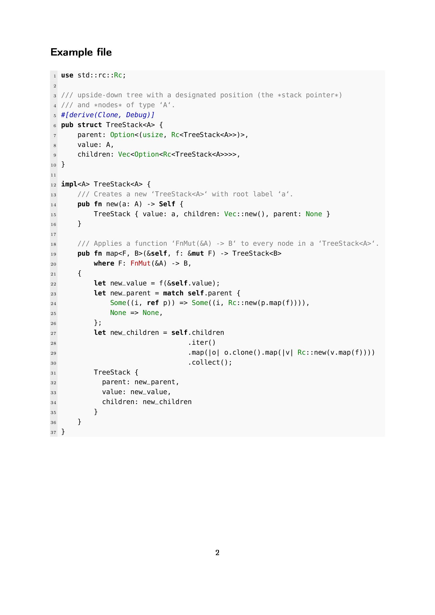 用 listings 定制排版 Rust 编程语言的排版样式