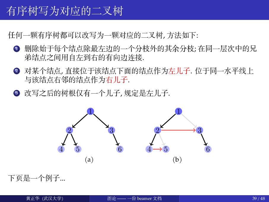 图论 ( 仅供学习 beamer, pgf 参考之用 ) - 黄正华老师精品