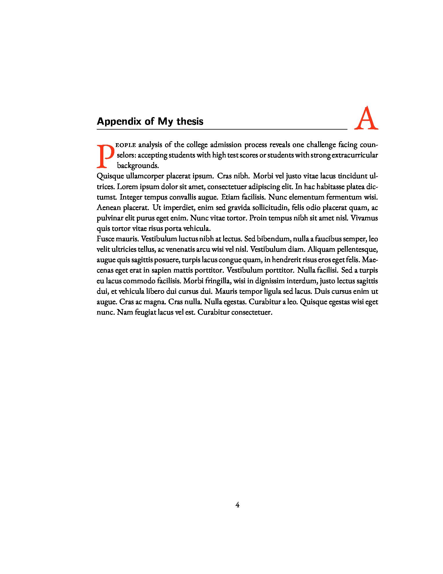 一个简洁清爽的章节样式设计