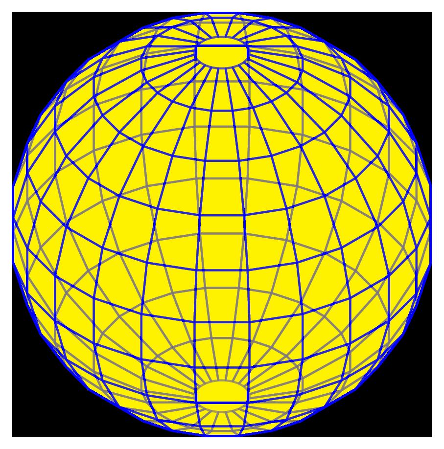 TiKZ 绘制不一样的圆球形