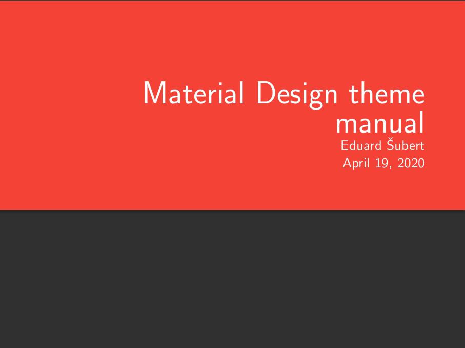 Google Material 设计风格的 beamer 主题