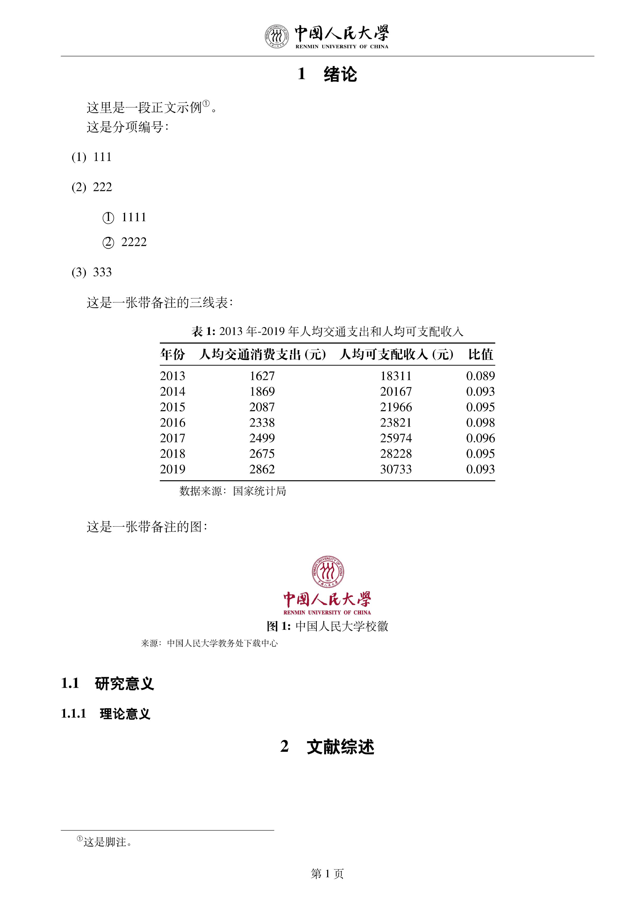 2020 中国人民大学本科生毕业论文(设计)LaTeX 排版样稿