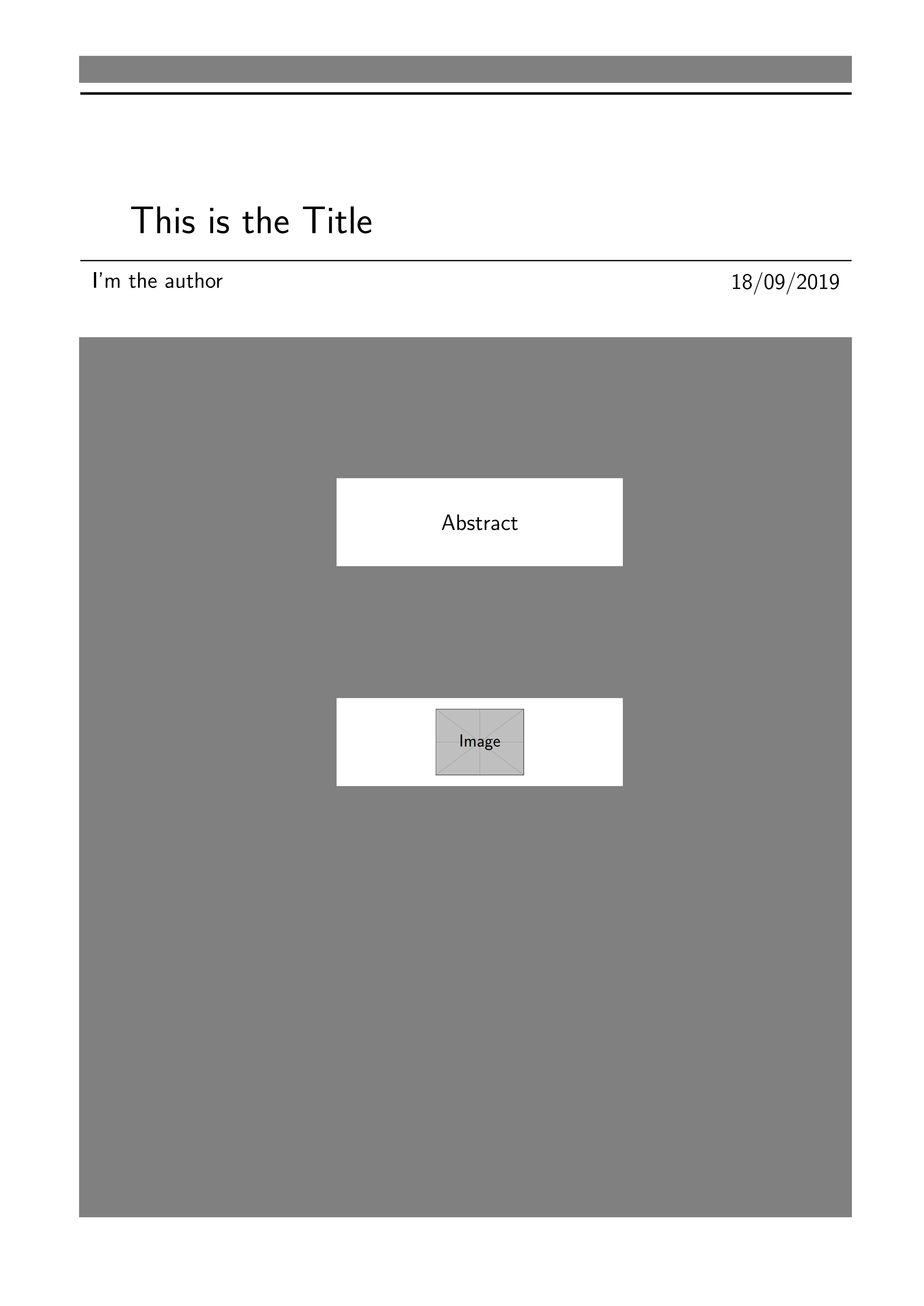 一个用 TiKZ 制作的灰色封面