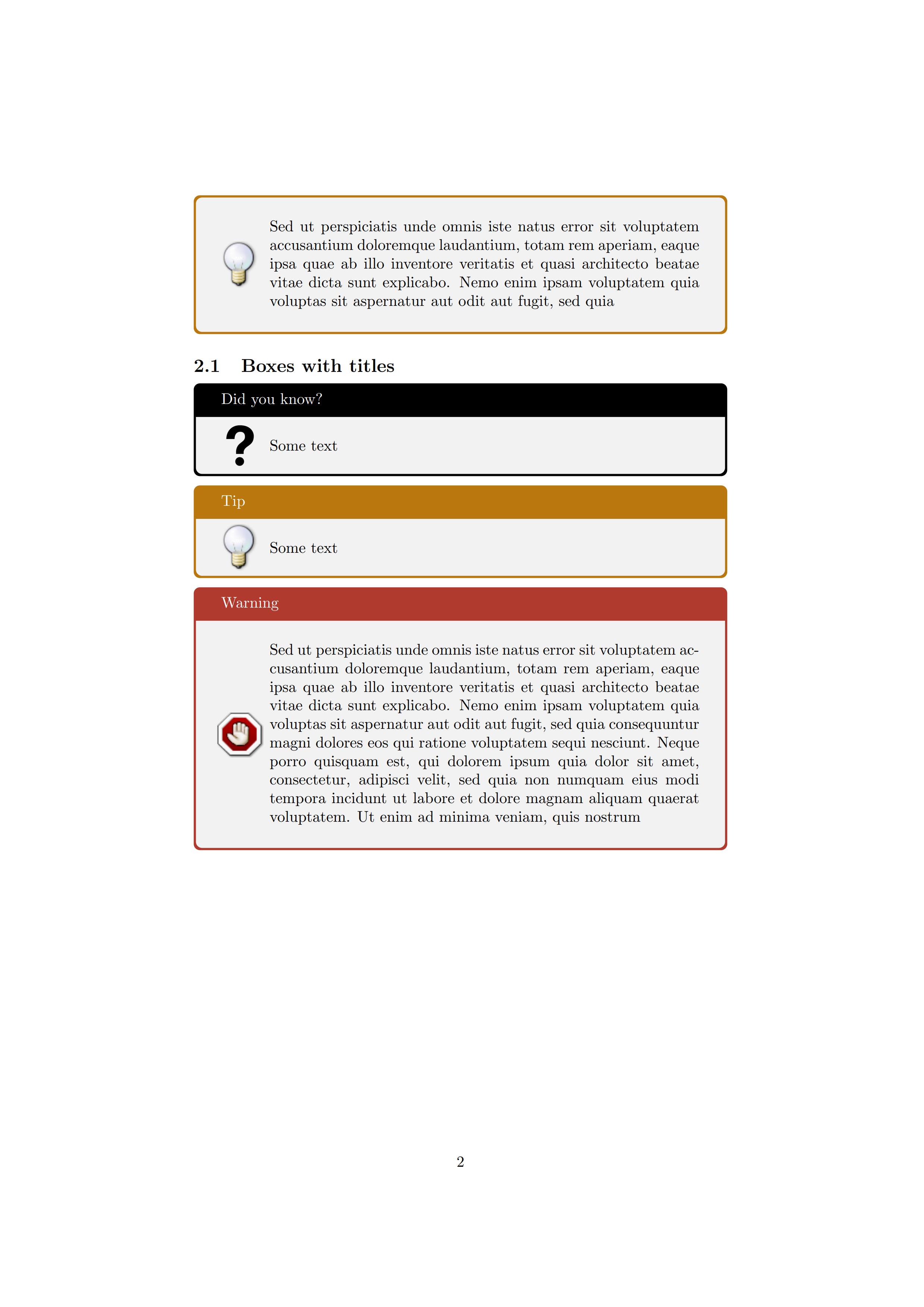 tcolorbox 轻松定制提示框