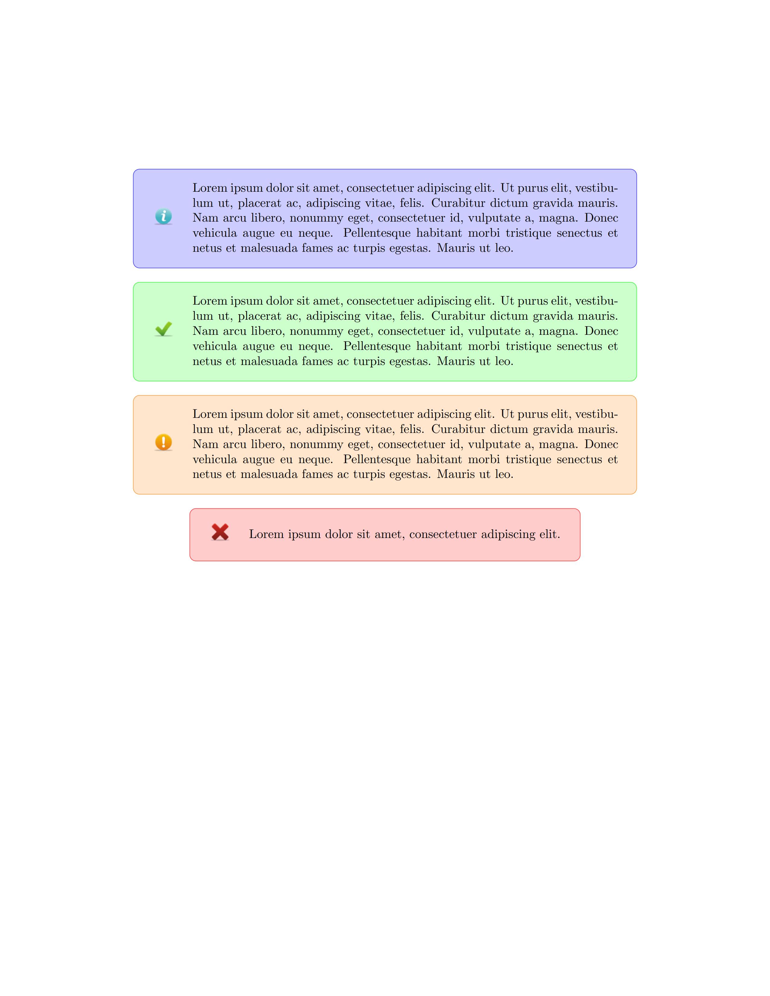 一个直接生成错误警告提示框的宏包 - alertmassage