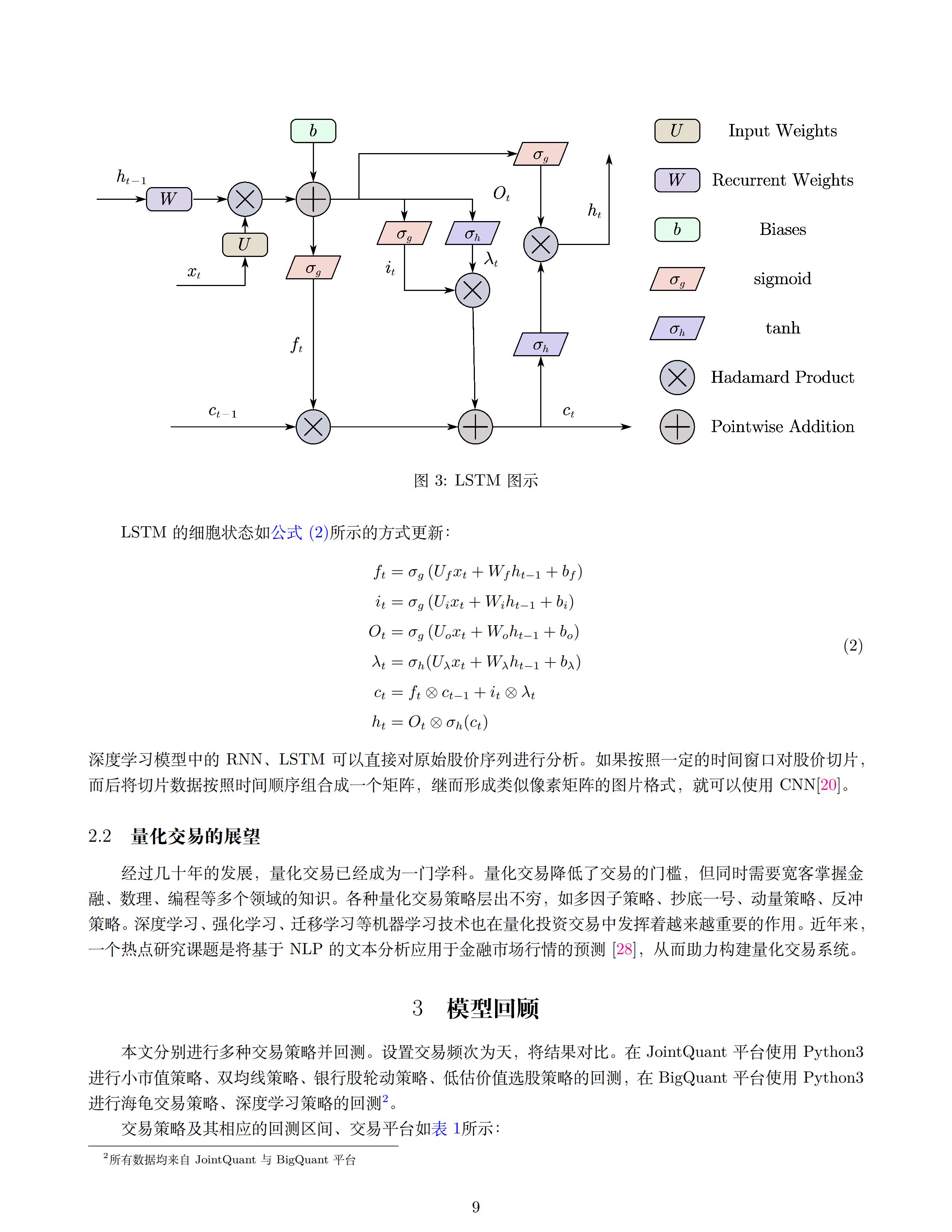 量化交易策略的实证研究与回测