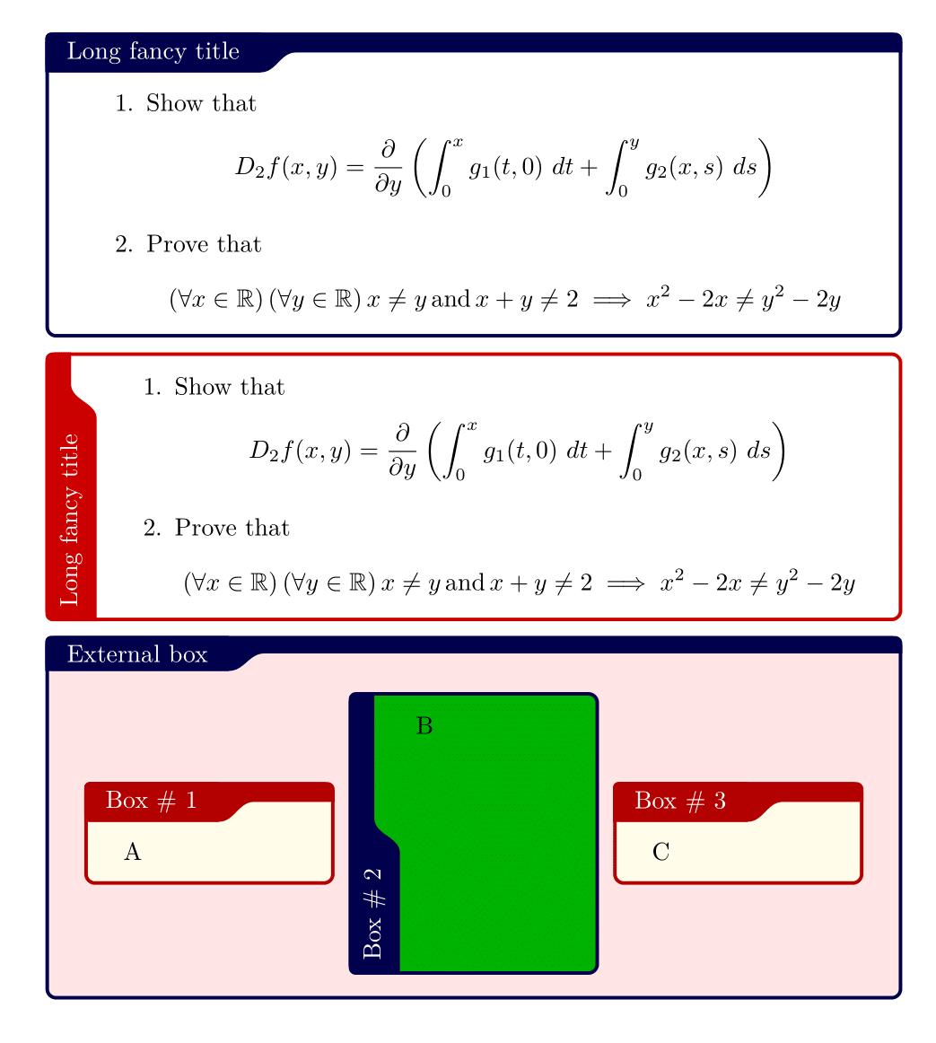 tcolorbox 定制样式合集 标题横竖排版