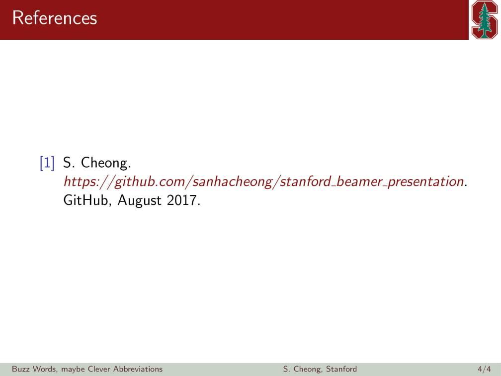 斯坦福大学非官方的 beamer 主题样式