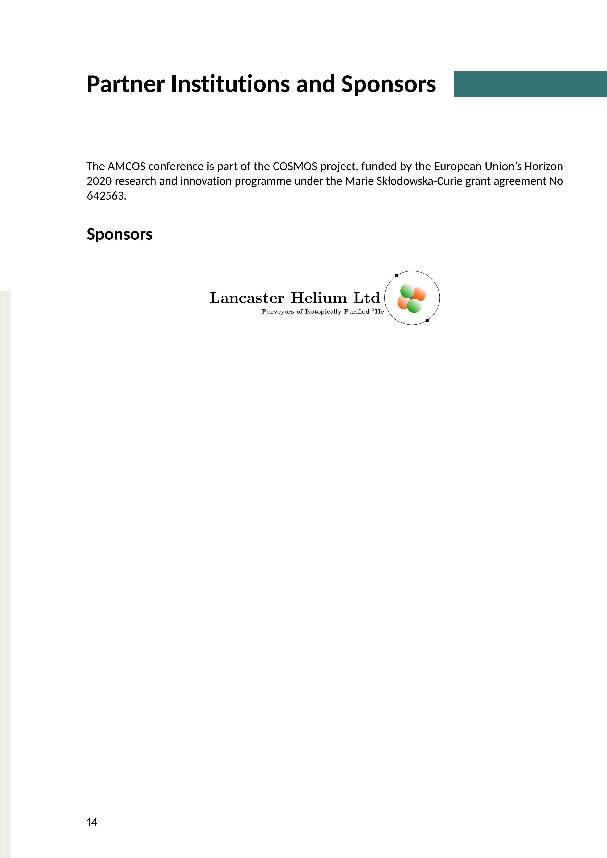 LaTeX 制作的会议信息表