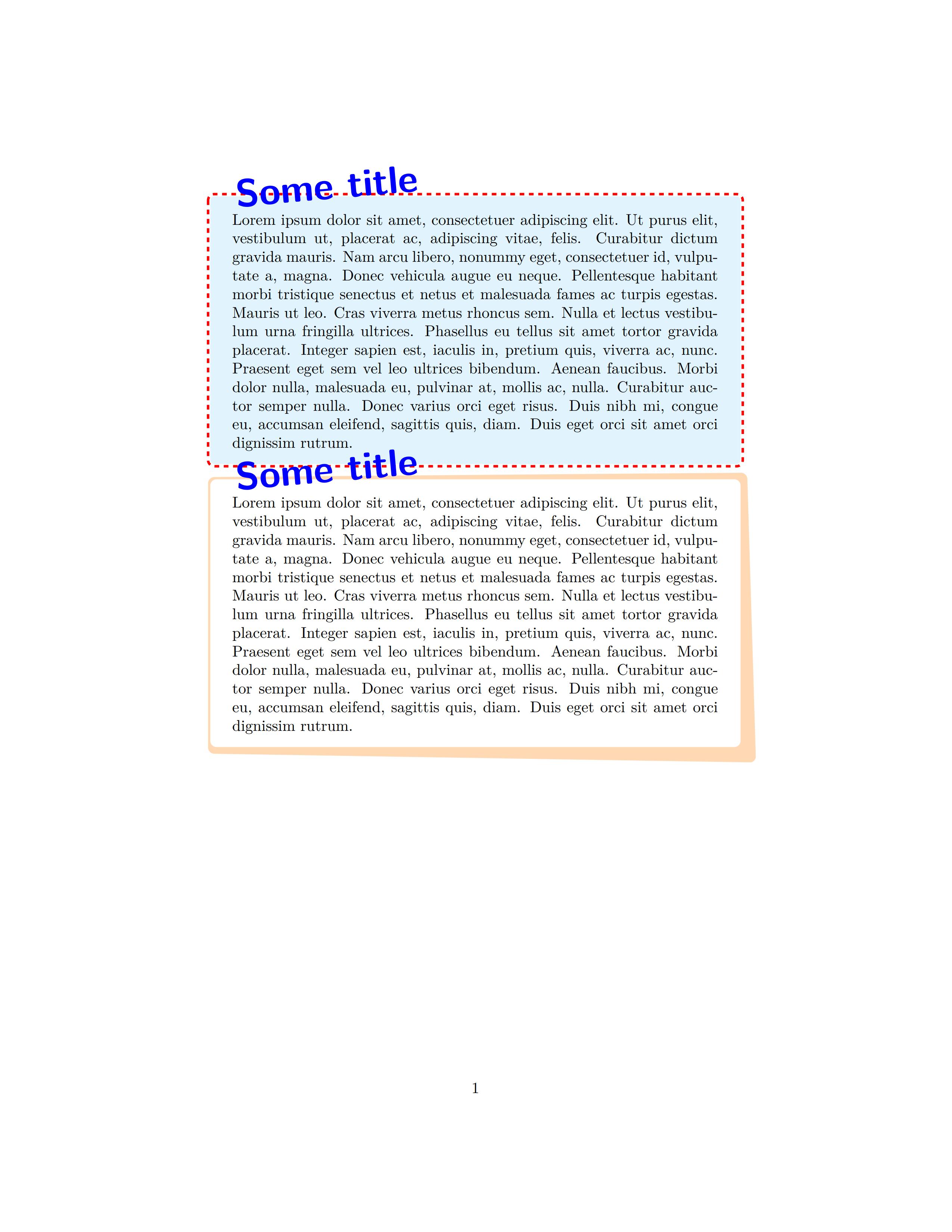 tcolorbox 定制的样式分享 - 标题很大气