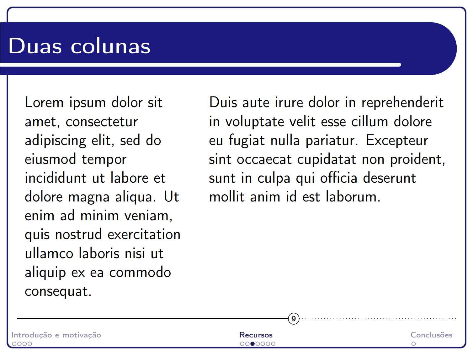 巴西圣卡洛斯联邦大学语言学和计算智能实验室 beamer 主题
