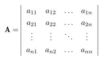 矩阵行列式快捷公式