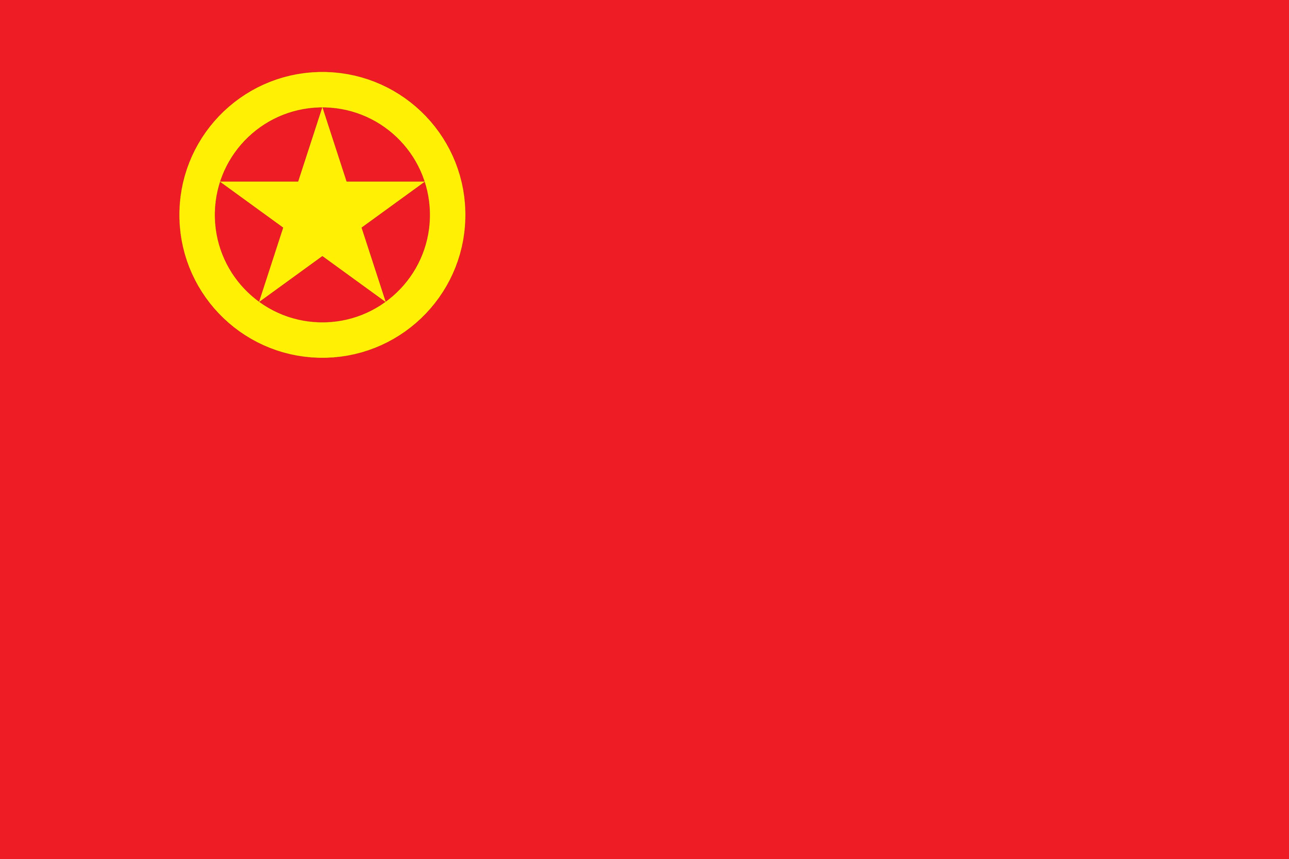 用 tikz 绘制团旗