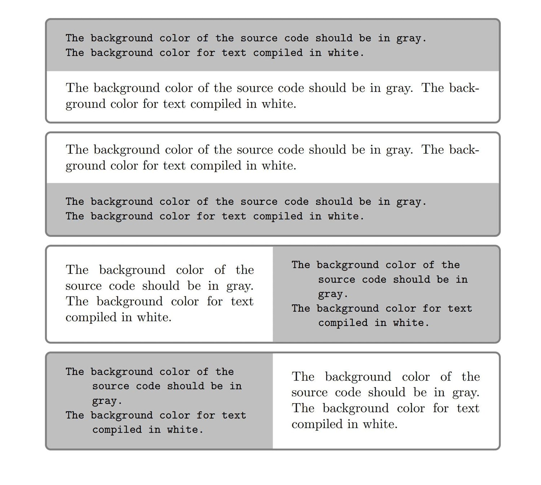 tcolorbox 写 LaTeX 代码和输出效果的样例