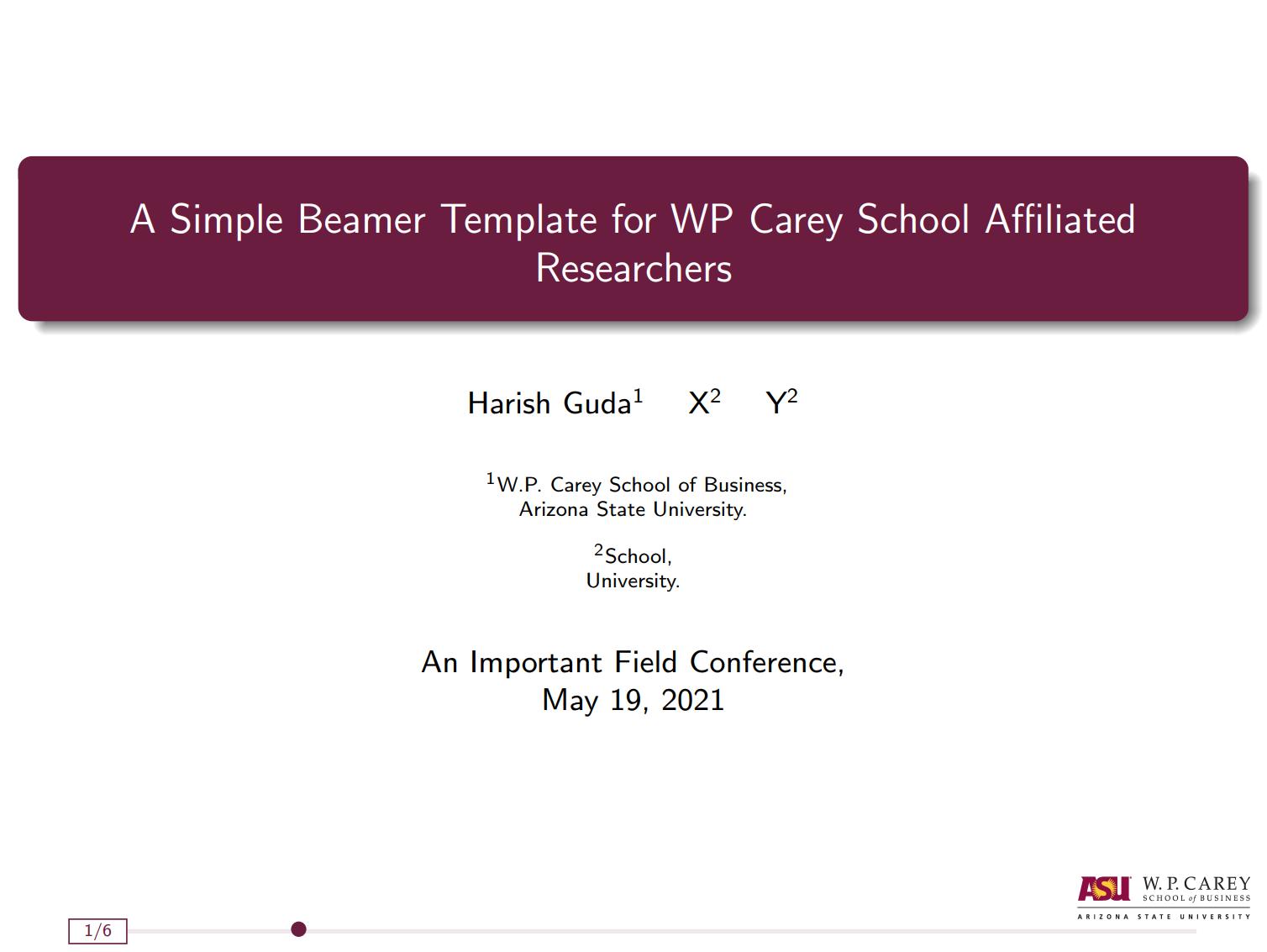 WP凯里商学院  beamer 主题样式