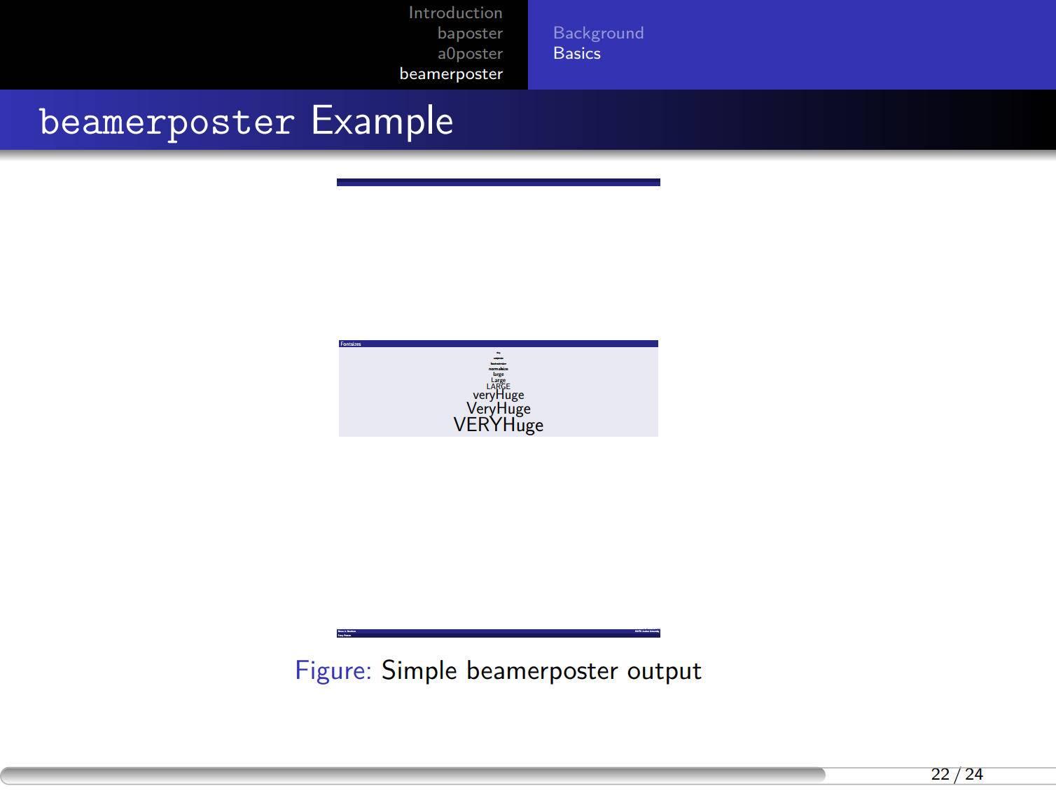 一个 beamer Warsaw 主题排版的样例 - 修正了进度条的错误
