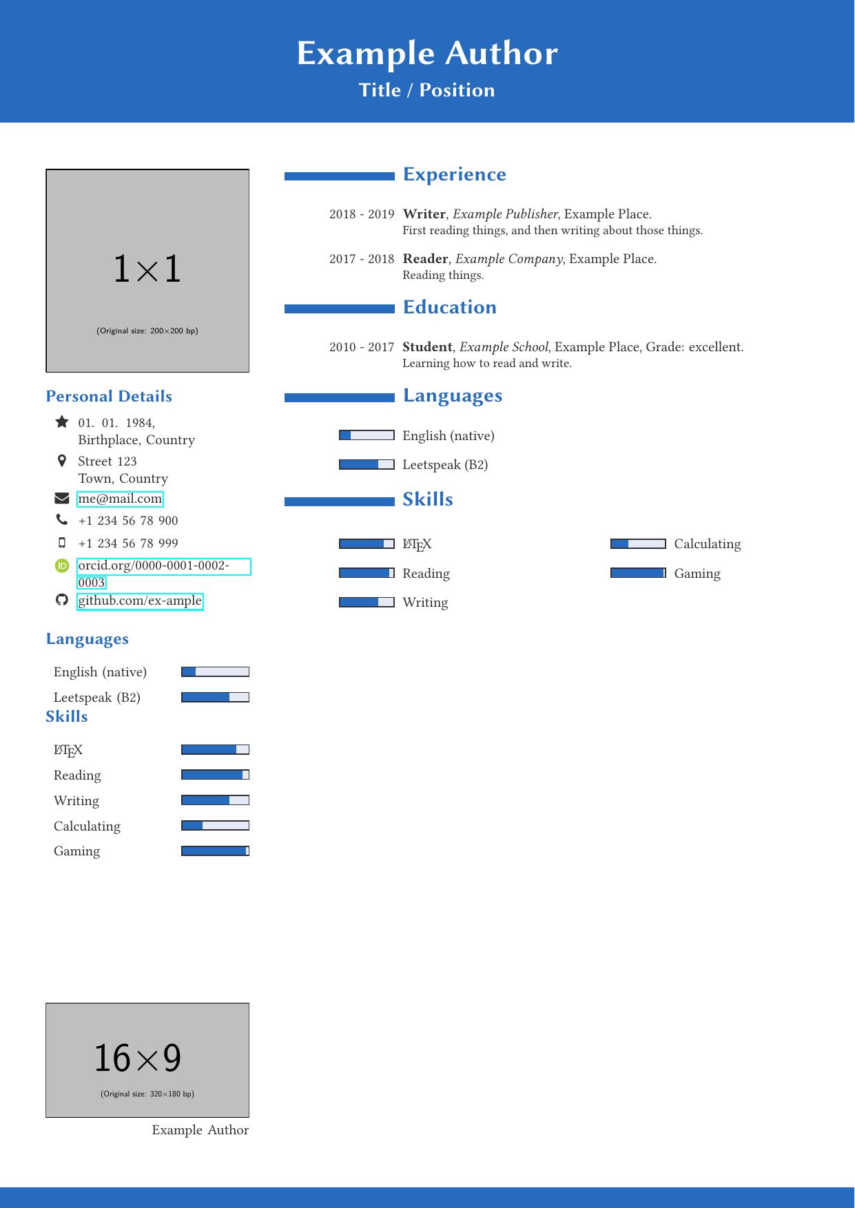 一个用户自制的 简历样式模板
