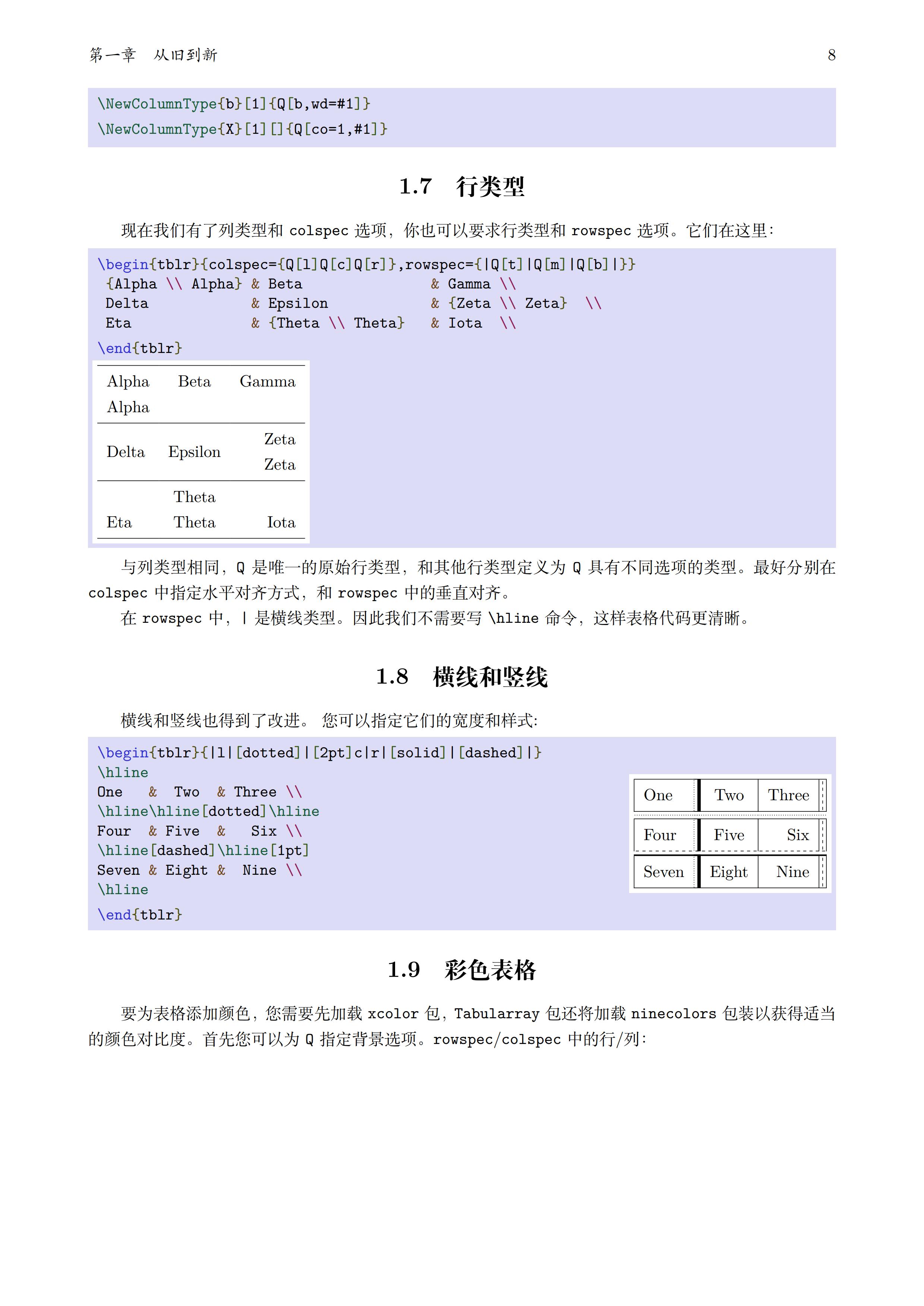 tabularray 表格宏包中译