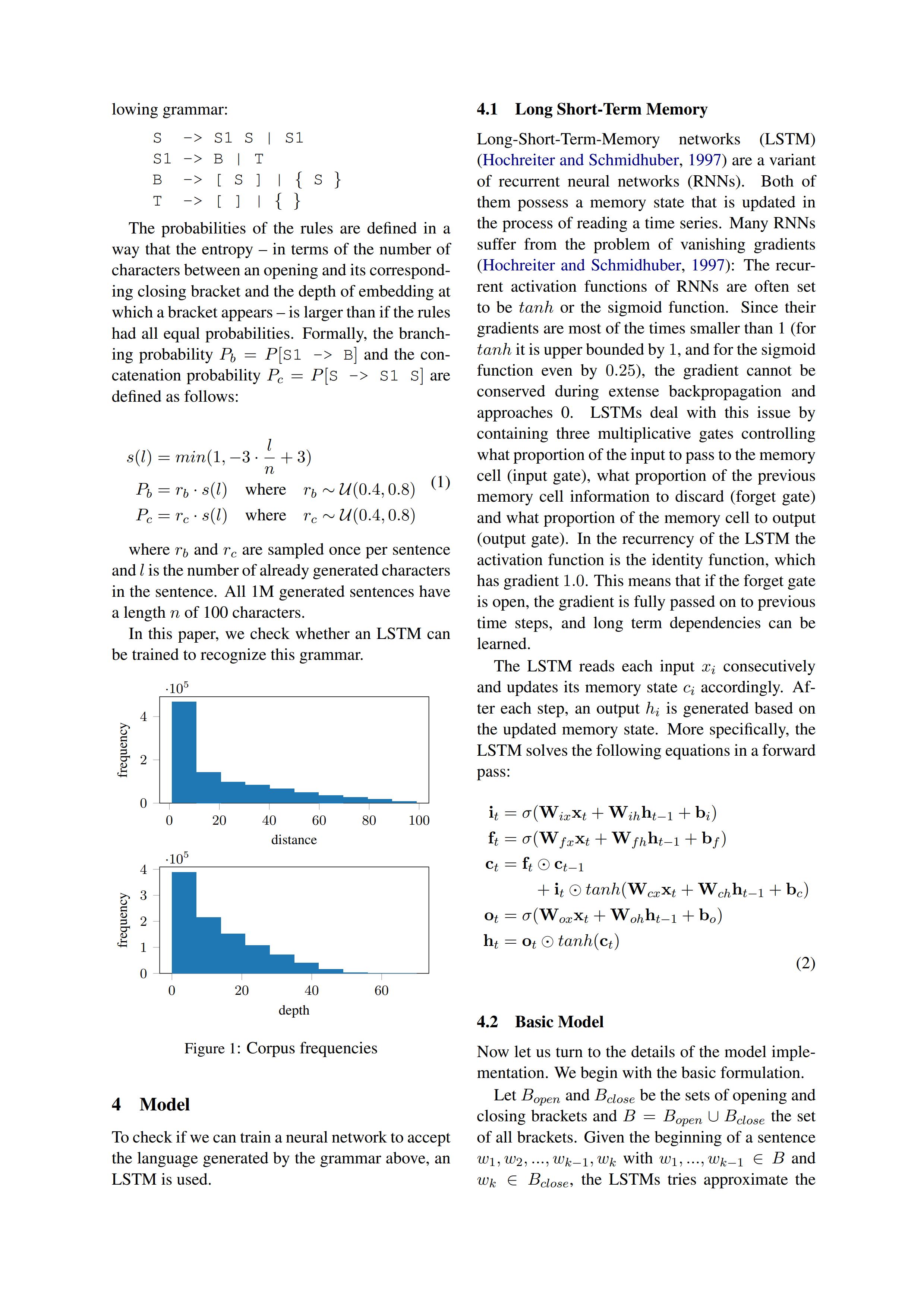 LaTeX 排版的论文 - 评估 LSTM 学习上下文无关语法的能力 - 配图全是 TikZ 完成