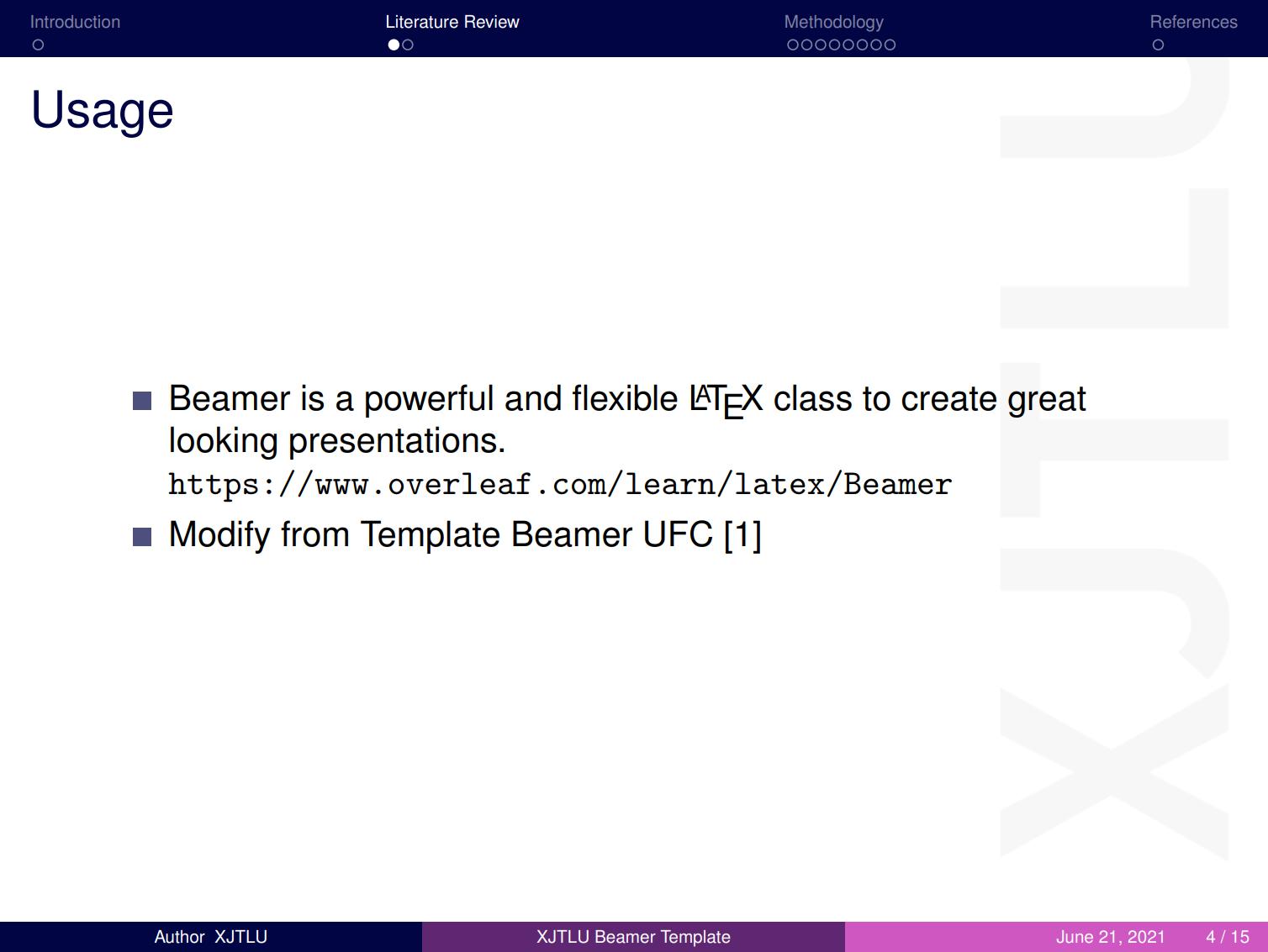 西交利物浦大学用户定制的 beamer 主题