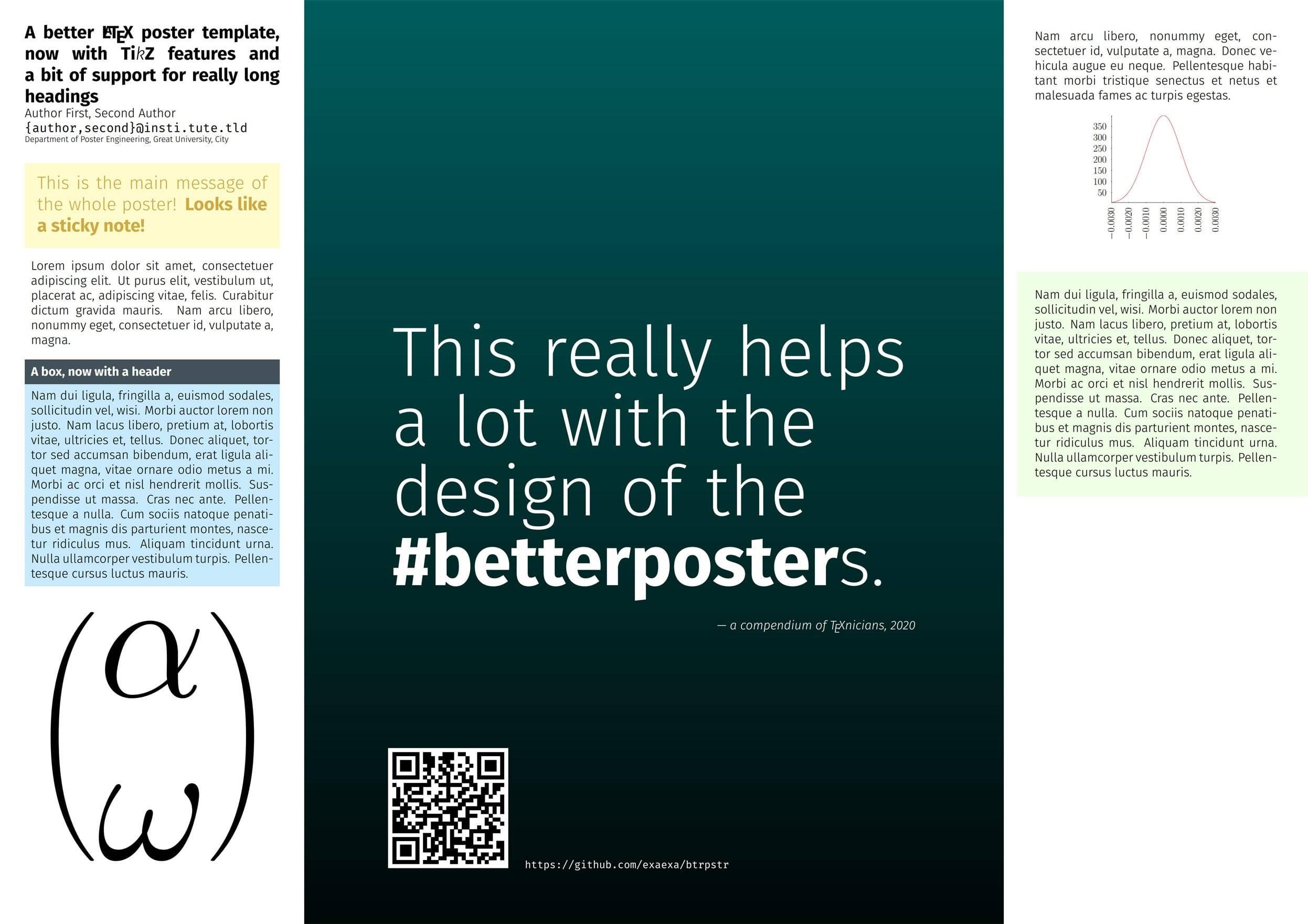 用 TikZ 制作更精美的学术海报