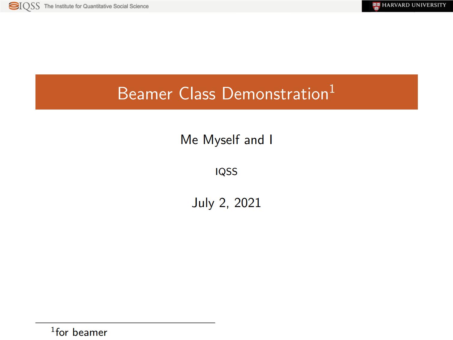 一个橙色简洁 beamer 主题样式排版
