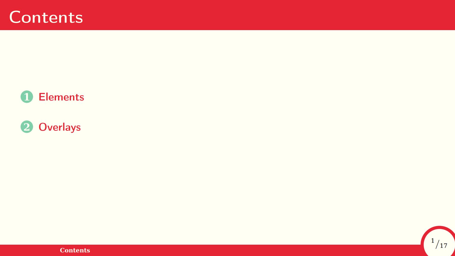 红色大气的 beamer 主题样式