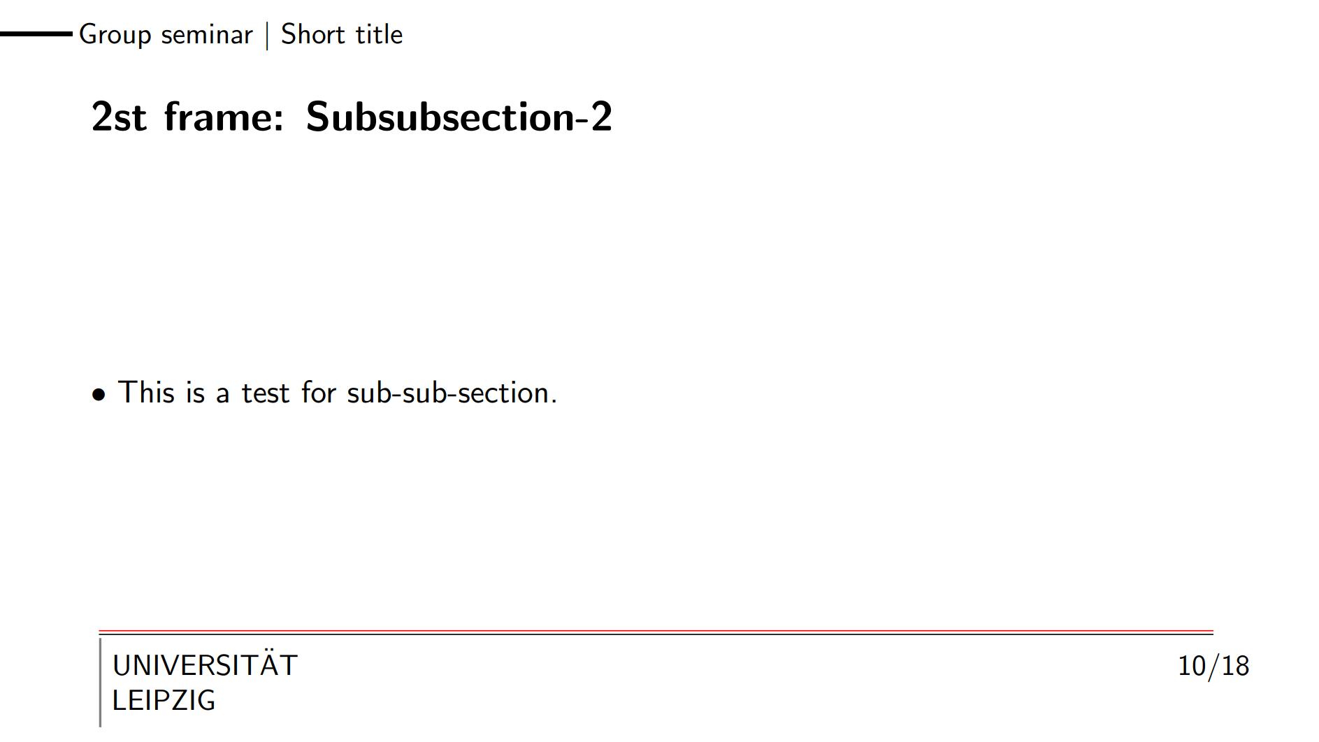 莱比锡学生使用的 beamer 主题 2 - 参考文献放页脚