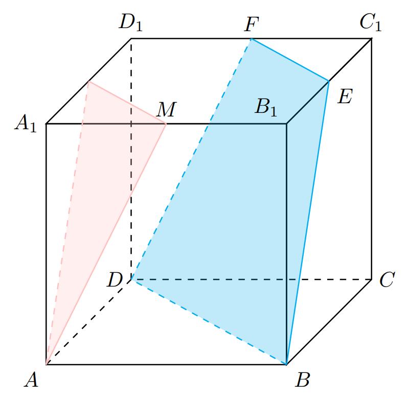 基于tkz-euclide宏包绘制斜二测图