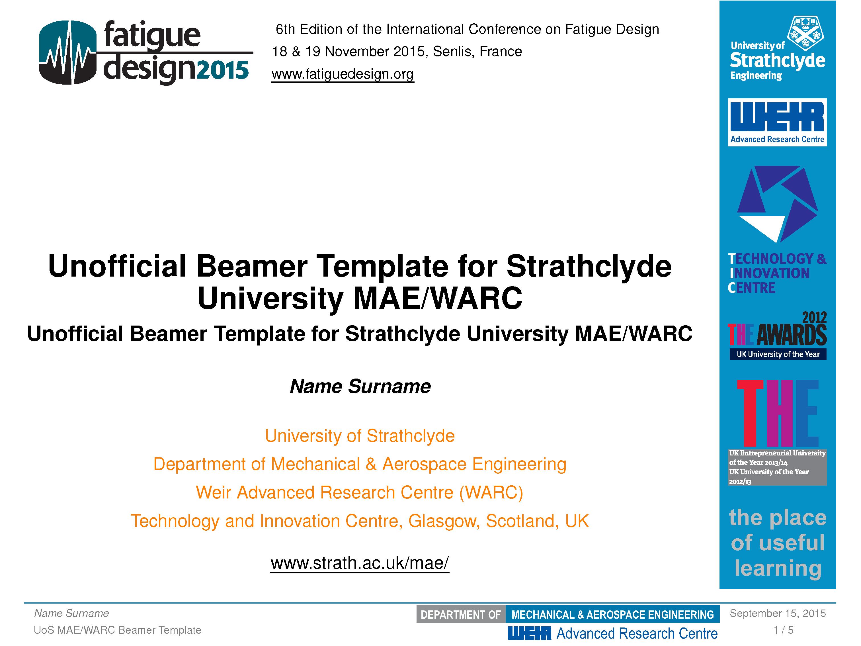 思克莱德大学三套非官方的 beamer 主题