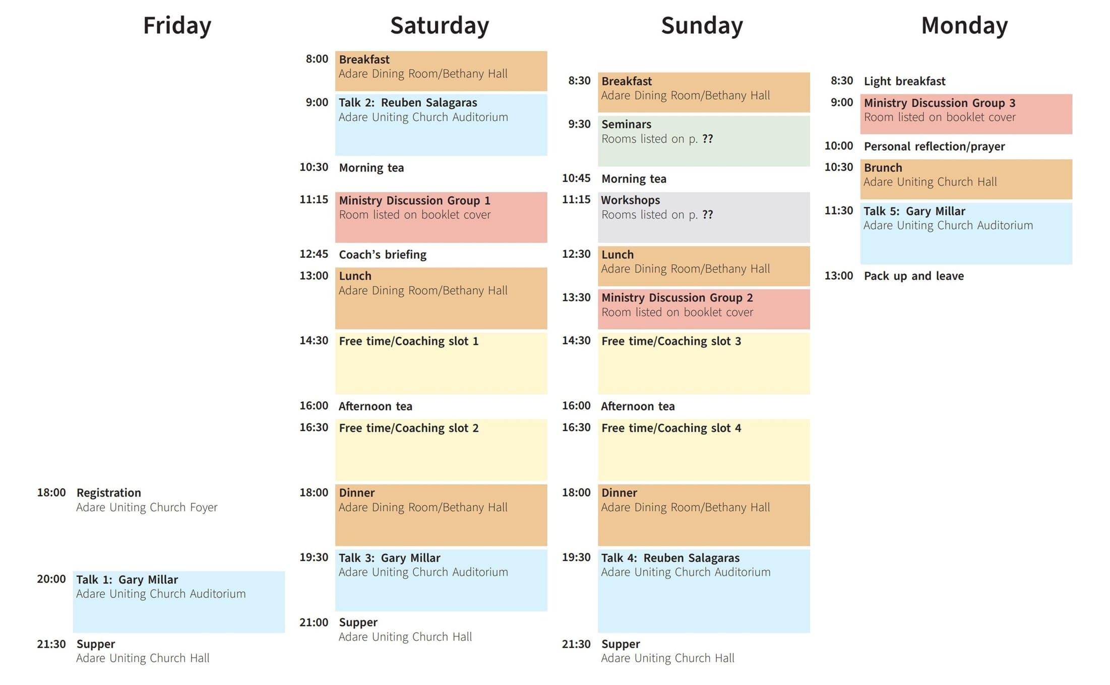 用 TikZ 绘制一个漂亮的时间表格
